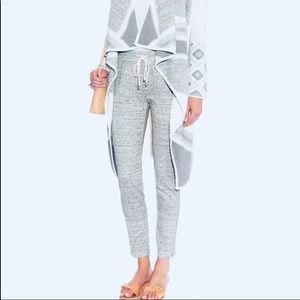 VINCE Grey High Waisted Jogger Sweatpants